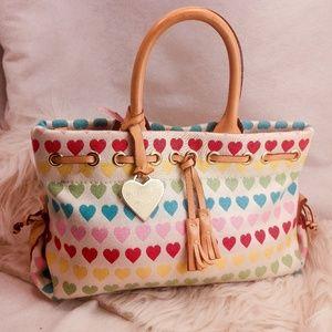 Autuentic heart Dooney & Bourke purse handbag
